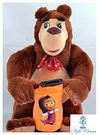 Копилка Маша и медведь мягкая игрушка, 25см