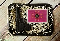 Набор мыла для мужчин с Эмблемой Сухопутных войск Украины,пистолет