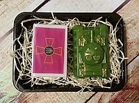 Набор ароматного мужского мыла  Эмблемой Сухопутных войск Украины,танк
