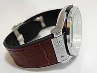 Мужские часы HUBLOT - GENEVE Black, кожаный с каучуком ремешок, цвет серебристый с коричневым