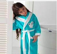 Детский махровый халат для девочки  7-8 лет