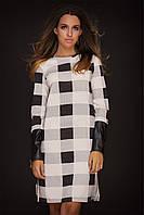 Платье клетка черно-белое
