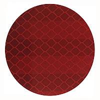 Отражатель (катафот) алмазного типа на самоклейке круглый д. 50 мм, красный