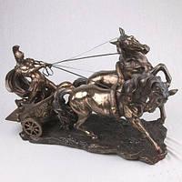 """Роскошные статуэтки """"Римский воин на колеснице"""" 62*45 см фирменные статуэтки Veronese"""