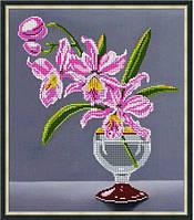 """Схема для вишивки бісером """"Рожева орхідея"""""""