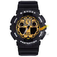 Спортивные часы Casio G-Shock ga-100 Black-Gold (Касио)