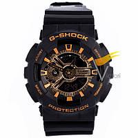 Спортивные часы Casio G-Shock GA-110 Black-Gold (Касио)
