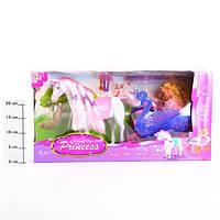 Карета с лошадью и куклой 38386, расчески, резинки, работа от 3 батареек типа АА, для детей от 3 лет