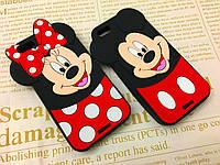 Резиновый 3D чехол для iPhone 5 / 5S / SE Мики и Мими