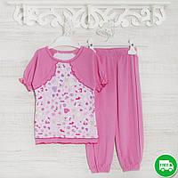 Детские пижамы для девочек 1-3-5лет, 1115GERDA трикотаж-хлопок-рибана, в наличии 92,104,116  Рост
