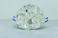 Встраиваемый светильник Feron JD87  JCD9 прозрачный с led подсветкой