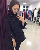 Пальто легкое на осень, не холодную зиму черное