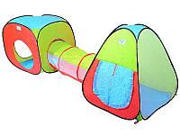 Детская игровая палатка 2 в 1 с переходом А 148