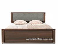Палемо кровать двухспальная (каркас) (вставка серая ткань) (Гербор/Gerbor)