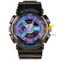 Спортивные часы Casio G-Shock GA-110 Black-Violet (Касио)