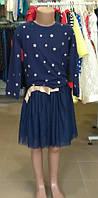 Платье с фатиновой юбкой 130 см