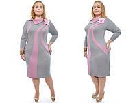 Нежное женское платье, батал  размеры 48-62