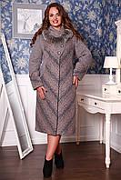 Женское зимнее пальто больших размеров Роста р. 50-62