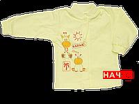 Детская кофточка р. 80 с начесом  демисезонная ткань ФУТЕР 100% хлопок ТМ Алекс 3222 Желтый