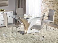 Стеклянный обеденный стол Halmar Vilmer на необычных ножках