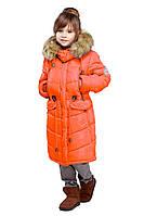 Стильная куртка оранжевого цвета