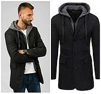 Мужское пальто серое весна-осень