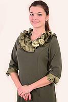 Платье женское нарядное , с розами, большие размеры , ПЛ 740 , платье для банкета ,50,52,54,56,58.