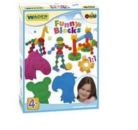 """Конструктор """"Funny blocks"""" 36 элементов в коробке Wader, 41830, Вадер для детей"""
