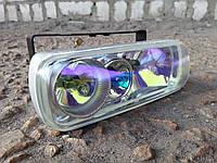Противотуманные фары на три лампы №2203 (стекло кристалл)