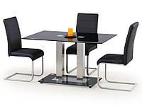 Стеклянный стол Halmar Walter 2 с двумя ножками на подставке