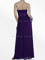 Вечернее платье с бантом ,фиолетовое . L. М