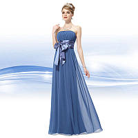 Вечернее платье с бантом , синее  S и М,L