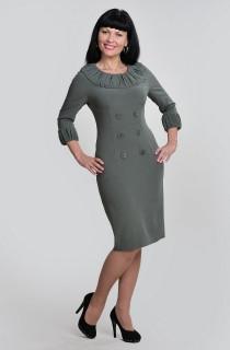 Платье женское в деловом стиле серое