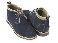 Синие осенние ботинки