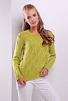 Красивый свитер 17 (фисташка)