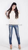 Кофта свитер Джемпер вязаный Ева р.48 белый