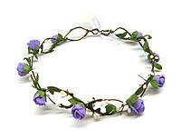 Венок для волос Розы нежно-фиолетовые