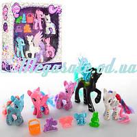 """Игровой набор """"Пони"""" (аналог My little Pony): 5 пони + аксессуары"""