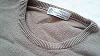 Шерстяной теплый свитер пуловер 100%лама-шерсть
