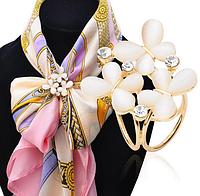 """Брошь кольцо """"Цветок"""" для шарфика и платка"""