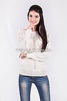 Кофта свитер Джемпер вязаный Паучек р.44 цвет Белый