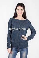 Кофта свитер Джемпер вязаный Паучек р.46 цвет Джинс