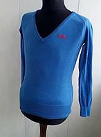Кофта пуловер  супер ярко-синего цвета