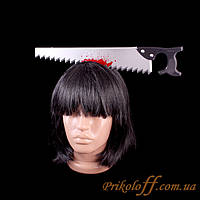 Обруч на Хэллоуин «Окровавленная пила в голову»