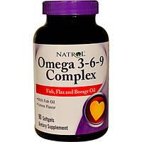 Омега 3 Natrol Omega 3-6-9 Complex 90 softgels