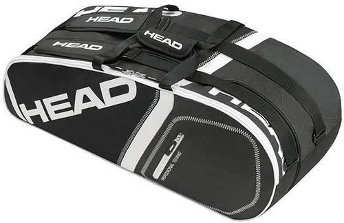 Надежная  черная теннисная сумка-чехол  на 6 ракеток 283345 Core 6R Combi  BKBK HEAD