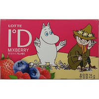 "Жевательная резинка Lotte ""ID MIX BERRY"" пластинки 25 гр."