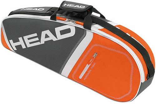 Оригинальная черно-оранжевая теннисная сумка-чехол на 3 ракетки 283355 Core 3R Pro  ANOR HEAD