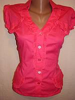 Блузка-рубашка  котоновая, стрейчевая.