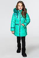 Куртка-парка для девочек КД-006 Бирюза